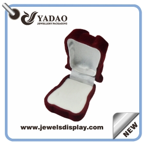 Red panda shape velvet jewelry RING DISPLAY BOXES for woman from China manufacturer
