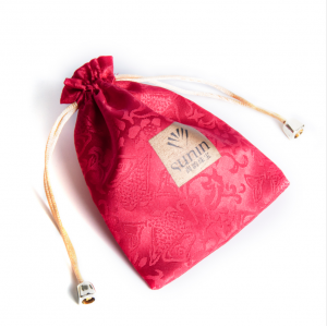 Satin Jewelry String Embroidery Pouch