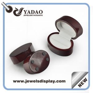 Solid wood custom jewelry box velvet ring box for jewelry wholesales