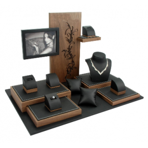 Unique Selling heated display cases careening logo custom jewelry collections for jewelry and watch show