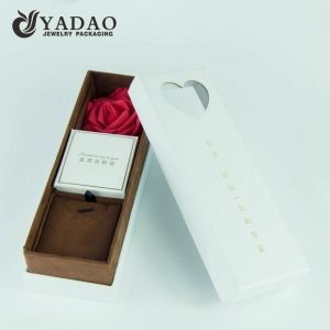 Valentine jewelry gift box rose gift box for beloved ones handmade in Chinese with favorable price and customized service.