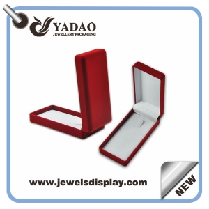 Velvet red jewelry box for pendant box made in China