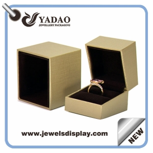 Wholesale China custom luxury jewelry boxes for jewelry ring earring necklace and bracelet set packing gold leatherette paper gift box