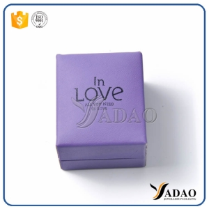 Wholesale beautiful custom hot stamping logo plastic with leatther/velvet/paper box for jewels from Yadao