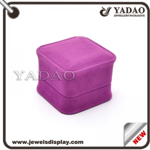 Wholesale charming custom color and size jewelry velvet box for packaging and display in jewelry shop