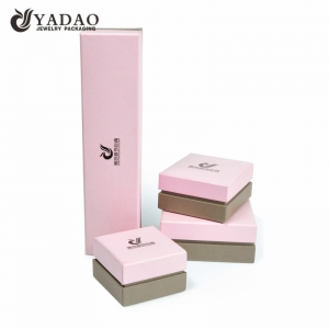 Wholesale cute square custom logo paper cardboard jewelry box with custom size, color
