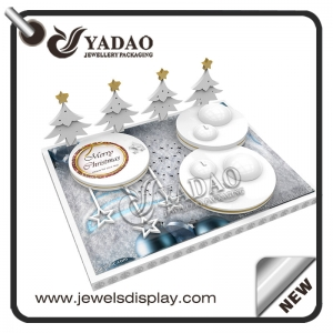 Wholesale Factory jewelry exhibitors stands for rings and earrings counter showcase jewelry display for Christmas