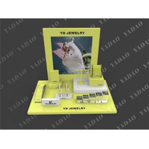 Wholesales Acrylic Jewelry Display Attractive Cute Color Jewellery Display for Luxury Jewelry Small Size Window Display Set for Jewellery Stores