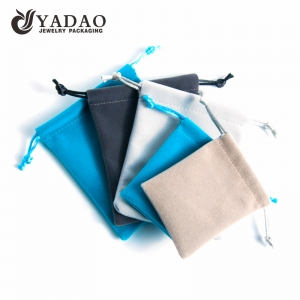 Yadao Manufacture Drawstring Velvet Color Material Custom Jewelry Pouch