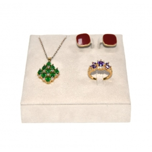 Yadao Wholesale Custom Luxury Velvet Ring Earring and Pendant Jewelry Display Stand Set