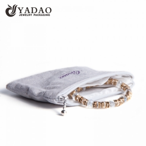 Yadao custom velvet jewelry pouch jewelry packaging pouch bag with zipper