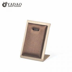 Yadao high quality PU leather gold necklace pendant stand customize