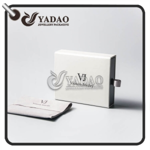 Yadao hot selling new design cardboard drawer box with high quality velvet pouch package sets