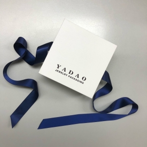 Yadao new design jewelry box set jewelry plastic packagking box inside paper box with ribbon outside