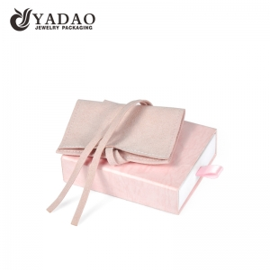 Yadao pink mini packaging pouch for jewelry and box custom logo and color