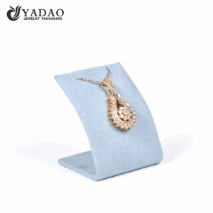 Yadao wholesale pendant stand microfiber jewelry display holder with magnet
