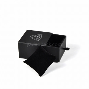 black drawer box black jewelry box for ring/pendant/necklace/bracelet/bangle with pillow