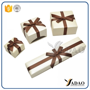 bowknot paper jewelry packaging box jewelry cardboard seperated lid