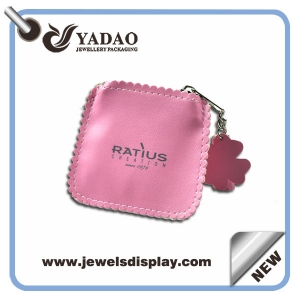 custom handmade jewelry pouch leather pouch with logo printing Yadao suppplier