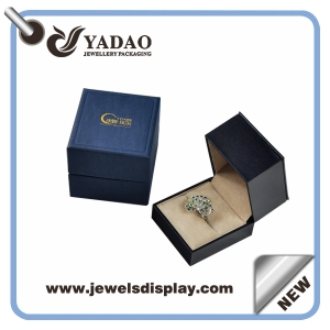 custom logo printed jewelry box, jewelry gift box classic high quality plastic jewelry packaging box manufacturer