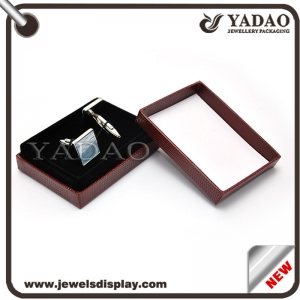 custom pretty nicely MOQ sale flexible separated lid plastice box for cufflink packaging/ earring/couple rings