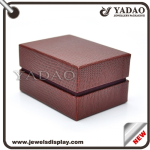 customed free logo new design cufflinks box as gift  box made in china