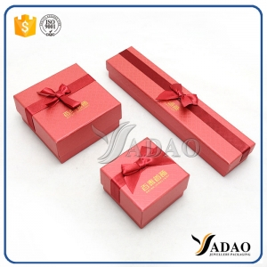 designable and various style of jewelry paper box sets necklace box earring box bracelet box bangle box pendant box