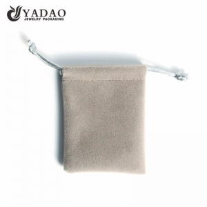 elegance customized handmake  luxury jewelry packaging punch bag cheap in linen/suede/velvet material