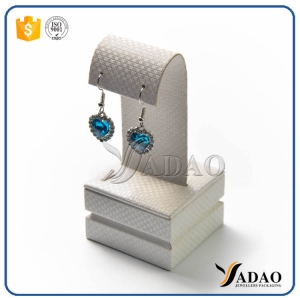 fantastic lovely wholesale manufactury small attractive mdf covered with texture leatherette jewelry display for earring
