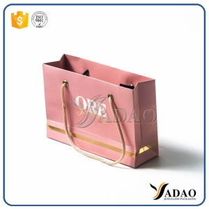favorable price good qualtiy  slight popular custom size and color hand-bags shopping bags gift bags for jewels packaging