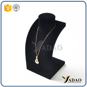 fire-new solid top quality  fancy everlasting competitive price wholesale velvet necklace bust for necklece/pendant display