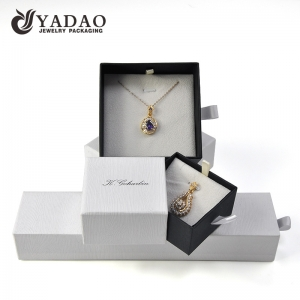 Yadao hot sale drawer box paper packaging box with custom velvet inside