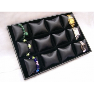 gray/coffe/black velvet bracelet/watch display tray for fashion jewellery display set cheap price wholesale custom design