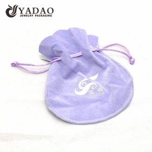 high-end handmade best moq wholesale thick good quality velvet material stitching jewelry pouch