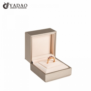 high end luxury jewelry packaging box plastic pack slot ring box Christmas gift jewelry box