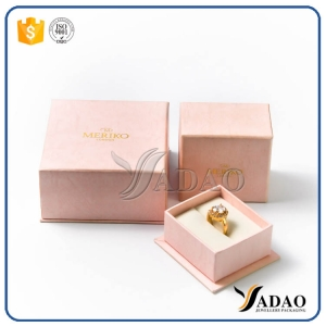 high-end luxury slight peach color competitive price  quality  paper jewelry box for jewelery
