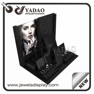 high quality acrylic jewelry display counter window jewelry display set customize
