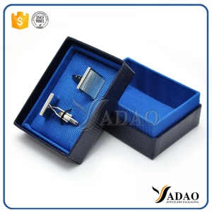 high quality paper box packing cufflinks coated with nice texture paper customize cufflinks paper box packaging