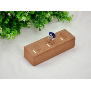 high quality pu leather wooden jewelry display holder for three ring display offered by chinese manufacturer