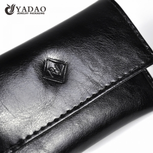 jewelry leather pouch black jewelry pouch with button