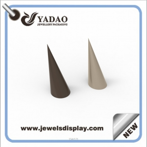 lacquer finish acrylic / resin ring display finger ring cone display jewelry customize for jewelry stores and jewelry shows