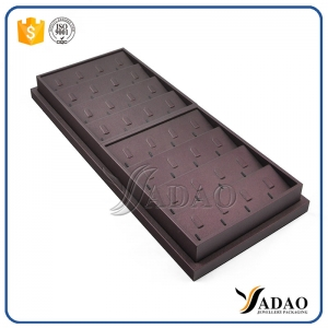 long high quality wholesale nicety light custom mdf leather ring display trays for jewellery store from Yadao