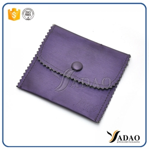 luxury mini soft velvet material wholesale cute nice fair price velvet pouch with button for any jewels