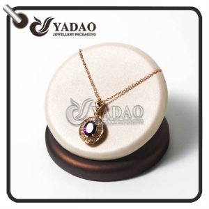 new born special delicate beautiful creative pie shape jewelry display made by leatherette paper for pendant