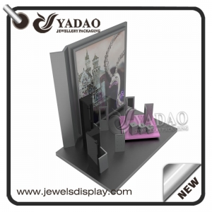 new idea classical  wooden jewelry display set showcase jewelry counter display
