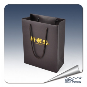 paper bag jewelry packaging bag CMYK printing finish paper shopping bag jewelry bag customize brand paper bag