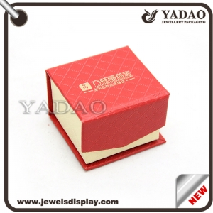 paper box packaging jewelry connected magnet flap lid paper jewelry box customize