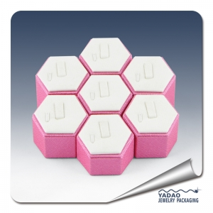 pink hexagon ring display stand ring holder stand customize in china