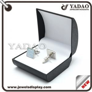 plastic cufflink display box with custom logo jewelry box gift packaging box supplier