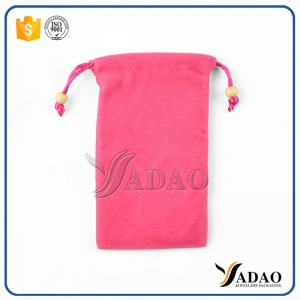 quality customize drawstring velvet jewelry pouch jewelry packaging pouch